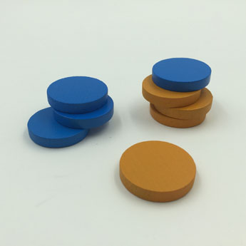 Color wooden tokens